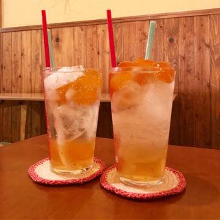 金柑シロップソーダ(おちゃどころtumugu)