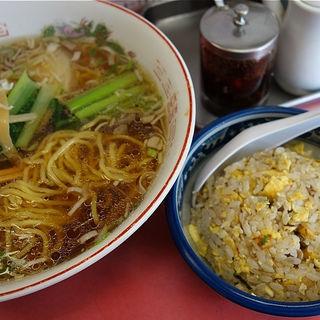 半チャンらーめんセット(中華料理 桝屋 (チュウカリョウリマスヤ))