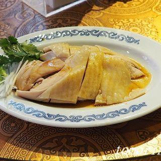 香港スタイルランチ (皮付き豚バラ肉の焼物)(中華菜館 同發 本館 )