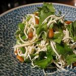 押し豆腐とコリアンダーのあっさり胡麻油和え  ◆香菜拌干絲◆