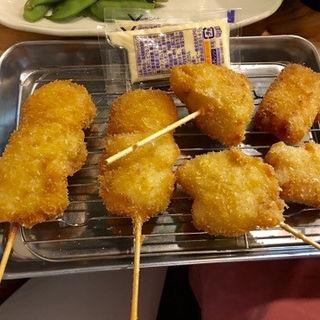 ホタテ、豚バラニンニク、ベーコンチーズ(串カツ 田中 錦橋店 )
