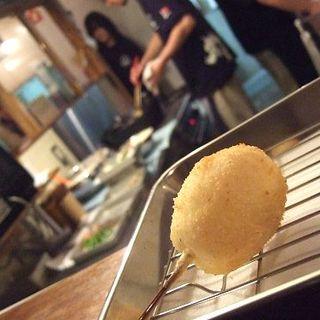 半熟卵(串かつ屋 ふみ勝 薬院店)