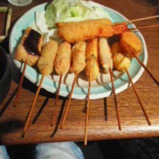 串揚げ10本定食(串揚げ処 味串 (みくし))