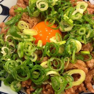 牛すき釜玉うどん(丸亀製麺 神田小川町 )
