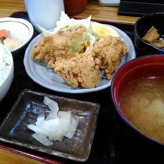 唐揚げ定食+ご飯大盛り(丸天寿司 )