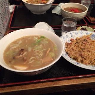 塩ラーメンと炒飯のセット(丸昌)