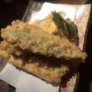 コノシロの天ぷら(丸秀鮮魚店)