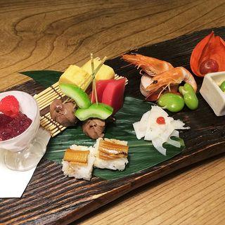 水無月の前菜盛り(九つ井 玉川店 (ここのついど))