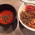 ラム肩肉の煮込み ラムトマトクリームスープつけ麺
