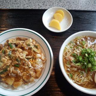 スタミナ飯とネギラーメンセット(五十番 )