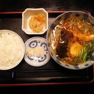 天ぷらそば定食(京そば司 尾張屋)