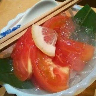 冷やしトマト(伊豆の旬 やんも 丸の内店 (いずのしゅん やんも))