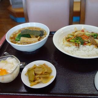 牛肉としいたけご飯+ミニラーメンセット(伯竜 )