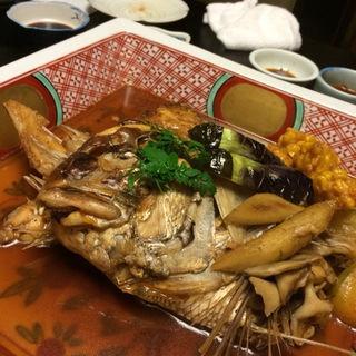鯛のあら炊き(佳久 (かきゅう))