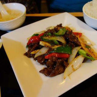 牛肉の胡椒炒めセット