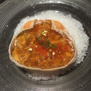 ずわい蟹の冷製レムラード(俺のフレンチ 博多)