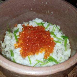 蟹といくらのご飯(俺の割烹)