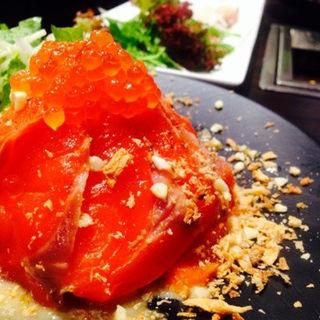 鮮魚のカルパッチョ(俺の焼肉 銀座9丁目)