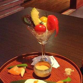 季節野菜の盛り合わせ~海老のソース付~(個室居酒屋 和食りん 渋谷店)