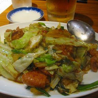 ホルモン炒め(元祖赤のれん 節ちゃんラーメン 天神本店 )