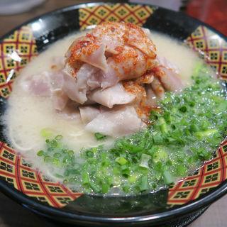 ダブル肉八味ラーメン(八味豚骨ラーメン (はちみとんこつラーメン))