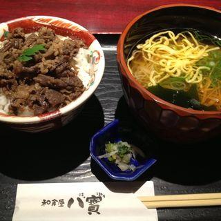 大和三輪にゅうめんと黒毛和牛時雨煮ミニ丼のセット(八寶 (八宝 はっぽう))