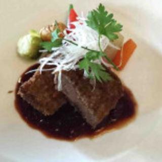 黒毛和牛のカツレツ(北野坂にしむら珈琲店)