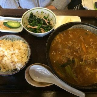 牛カレーうどん(和牛)定食