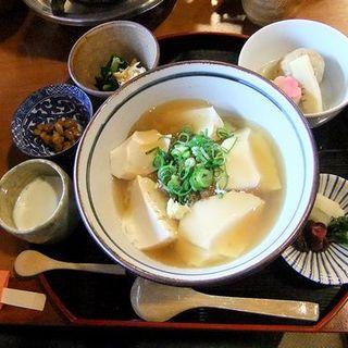 とうふ丼セット(南禅寺 順正 (なんぜんじ じゅんせい))