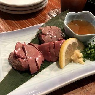 鶏肝の刺身(博多一番どり)