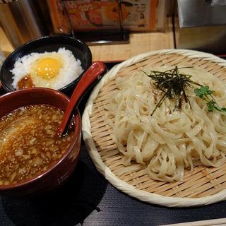 極太平打ちつけ麺(醤油)+醤油麸と生玉子のっけ丼セット(双麺 錦糸町店 (旧店名:漁だし亭))