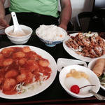 エビチリセット(台湾料理 美味鮮)