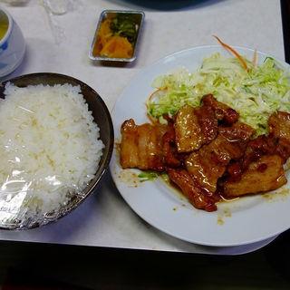 豚バラ焼肉定食(出前)(味の十八番 )
