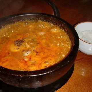 ユッケジャンうどん+ライス(味仙坊 )