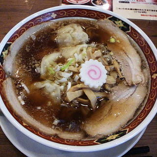 ワンタン麺(喜多方ラーメン 大安食堂)