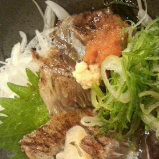 まぐろの頬肉たたき(地魚酒場 魚八商店 京橋店 )