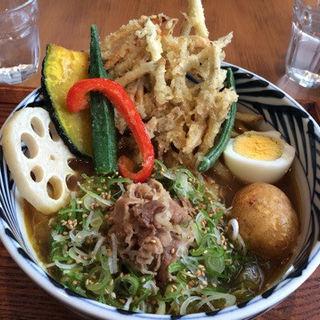 肉カレーうどん(増田うどん)