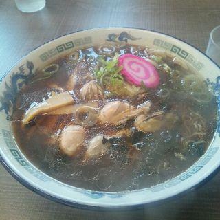 牡蠣ラーメン大盛醤油(夏堀)
