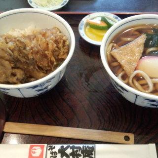 アナゴ天丼とうどんセット(大村庵 )