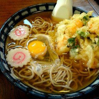 えびかき揚げ卵そば(天一商店)