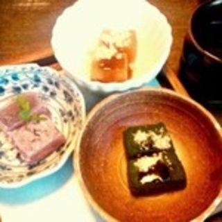 蕨餅三種盛り(天空の月 渋谷 (隠れ家個室ダイニング))