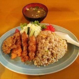 豚唐揚げと炒飯ランチ(太閤)