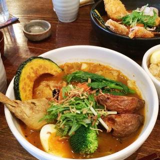 チキン+季節野菜のカレー(奥芝商店 八王子田代城 (オクシバショウテン))