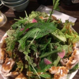 糸島野菜と豚しゃぶサラダ(姪浜 門際飯荘 (メイノハマ モンギワハンソウ))