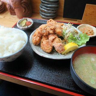 からあげ定食(季節料理 藤原)