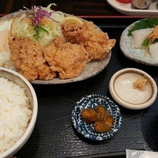 鶏から・イカ刺しのセット(定食や 平和通店)