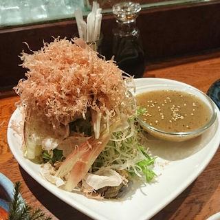 茗荷と夏野菜 豚しゃぶのサラダ(家庭料理まさき)