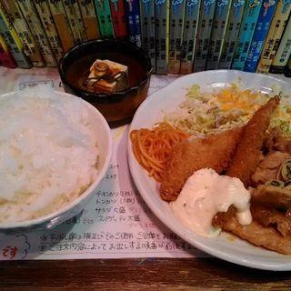 日替りランチ(豚しょうが焼き定食)+ご飯大盛り50円(居酒屋 1969 3号店 (いざかやいちきゅうろくきゅう))