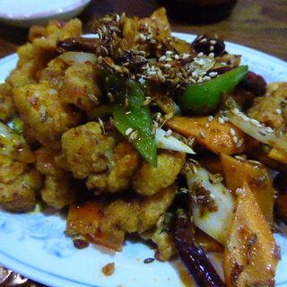 鶏ももの辛味炒め(居酒屋火麒麟 )