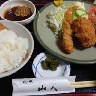 ミックスフライ定食(山人)